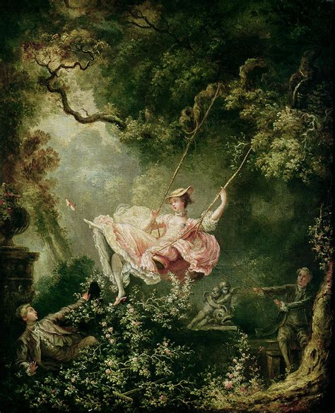 painting of woman on swing the swing painting by jean honore fragonard