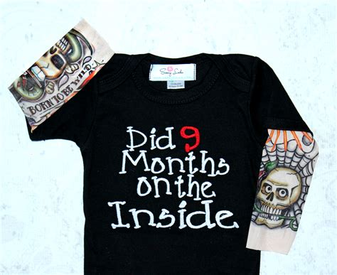 tattoo baby clothes baby boy sleeve bodysuit sassy locks