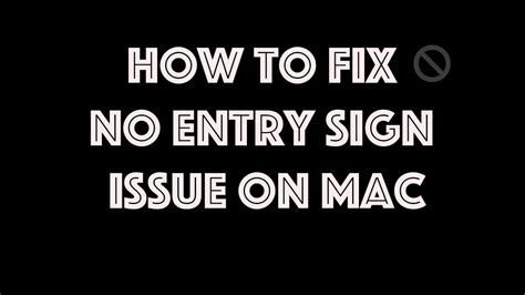no smoking sign mac startup live troubleshooting no entry sign on macbook pro on boot