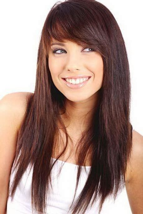hairstyles with fringe long hair haircuts for long hair with fringe