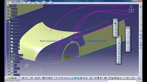 design frame in catia catia v5 powerful tricks 139 extrapolating surfaces and