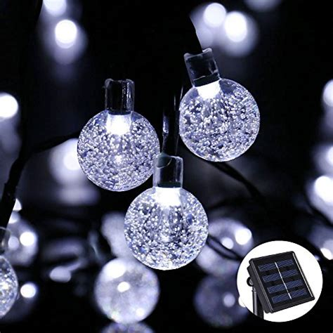 solar string lights outdoor globe lights by icicle 20ft