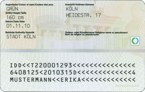 german id card template ilmenau der neue personalausweis besser oder nur teurer
