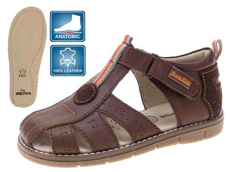 brown sandals for toddler boy beppi brown leather toddler boys sandals loar shoes
