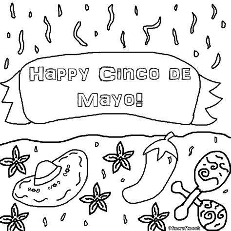 5 de mayo coloring pages coloring home