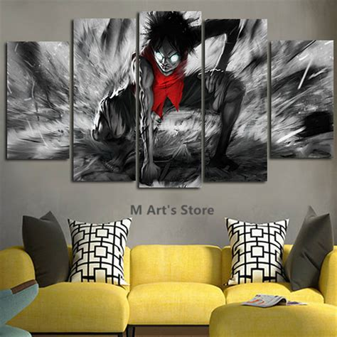 piece canvas art catoon poster  piece painting home