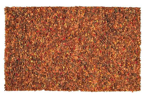 burnt orange shag rug edith shag rug burnt orange on onekingslane floors and rugs products