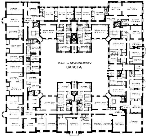 The Dakota Floor Plan | origins and the dakota central park west ology