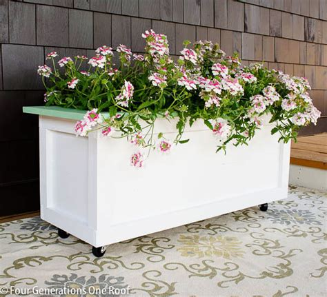 Make Your Own Wooden Planter by Diy Wooden Planter On Wheels