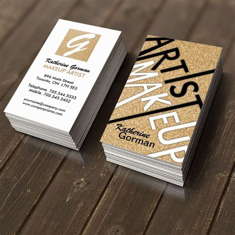 Fully Customizable Makeup Artist Business Cards Created By