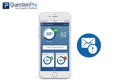 survey mobile app new set up actionable email alerts on questionpro offline