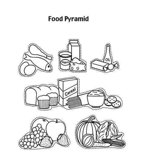 coloring page of the food pyramid mypyramid summer coloring page coloring page food