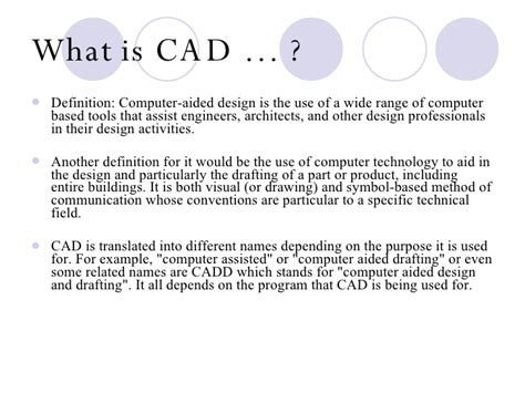 design definition computer computer aided design powerpoint project