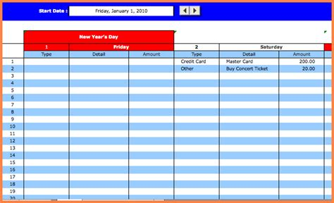 bill tracking spreadsheet template excel