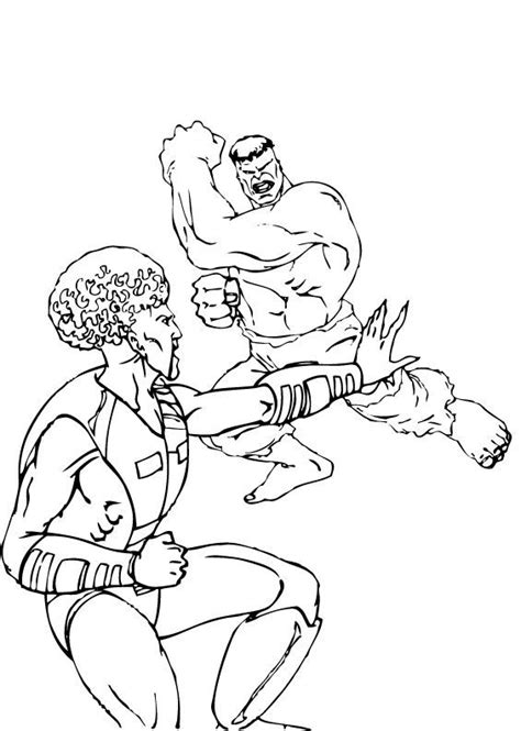 green hulk coloring page the leader vs hulk coloring pages hellokids com