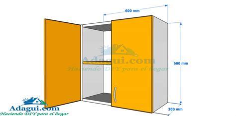 hacer plano plano y dise 241 o con medidas mueble alto de cocina melamina