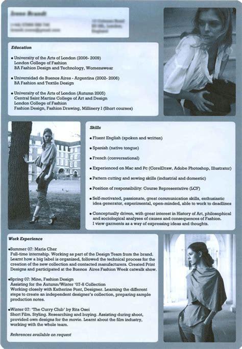 fashion design cv exles fashion designer s cv creative cv s pinterest