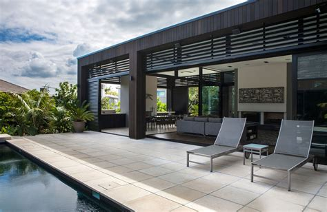 Terrace Outdoor Living Modern House In Auckland New Zealand