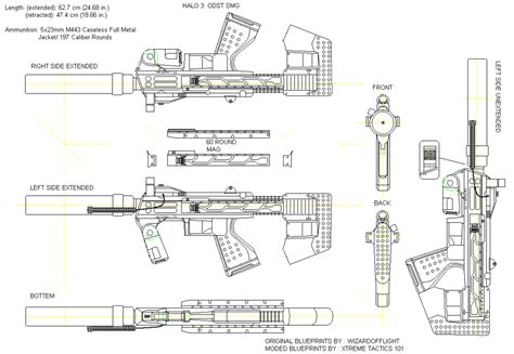 halo warthog blueprints wizardofflight s modded halo 3 smg blueprints ethan