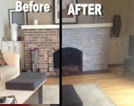 How to Whitewash a Dated Brick Fireplace ? Dave and Kelly