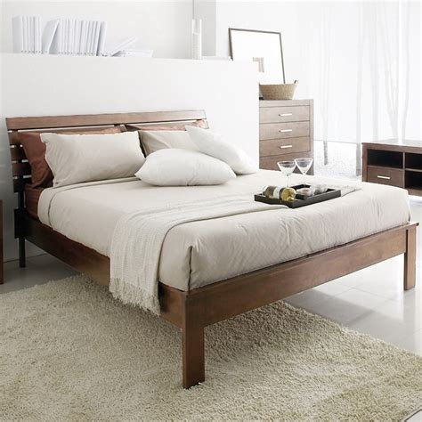 overstock bed robbin brown queen size bed