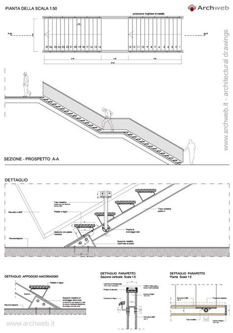 scale interne dwg scale in acciaio e legno dwg