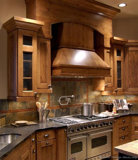 Rustic Backsplash For Kitchen Kitchen Of The Day Rustic Kitchen Design With Pro Viking Range Large Wood And Slate