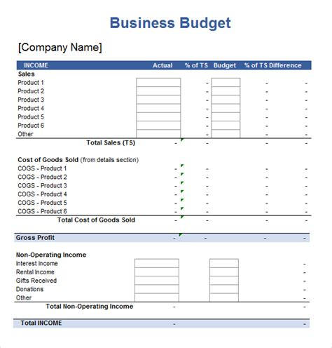 best photos of small business budget worksheet template