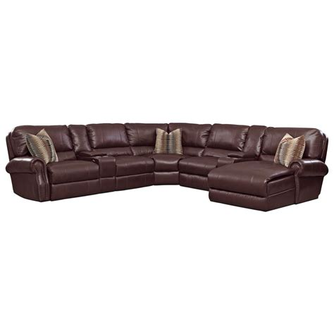 Princeton Leather Sofa American Signature Furniture Princeton Leather 5 Pc Power Reclining Sectional Basement