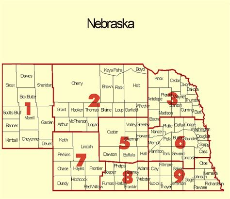 Search Nebraska Climate Prediction Center State Climate Divisions With Counties