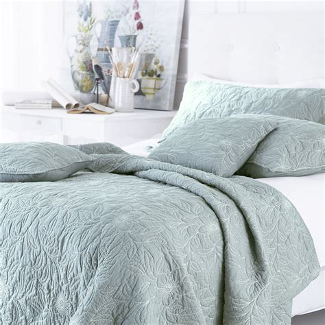quilted bed linen sashi bed linen riviera 100 cotton embroidered quilted