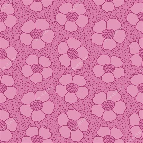 motif pattern background floral pattern seamless flower vector motif on pink