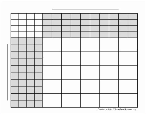 super bowl squares excel template exceltemplates