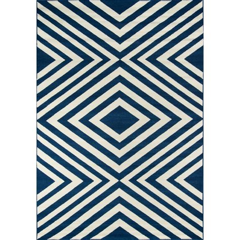 7 X 10 Outdoor Rug Nourison Caribbean Navy 7 Ft 10 In X 10 Ft 6 In Indoor Outdoor Area Rug 239853 The Home Depot