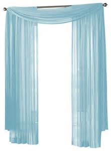Blue Sheer Curtains Hlc Me Sheer Curtain Window Light Blue Scarf Traditional Curtains By Home Linen Collections