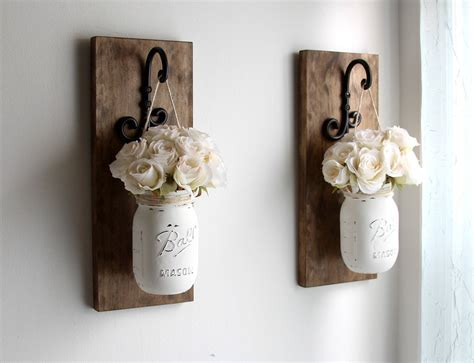 rustic home decor mason jar bathroom set by therusticthorn on etsy rustic home decor mason jars sconce rustic sconces rustic