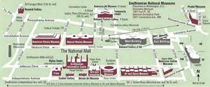 Washington Dc Mall Map by National Mall American History Museum