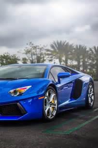 lamborghini aventador in bright blue cars