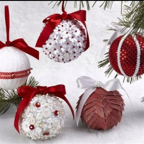 Handmade Ornament - ornaments using styrofoam balls how i