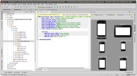 android studio layout loading configuration setup configure and create an android application in