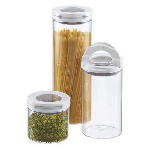 oxo fliplock glass canisters the container store