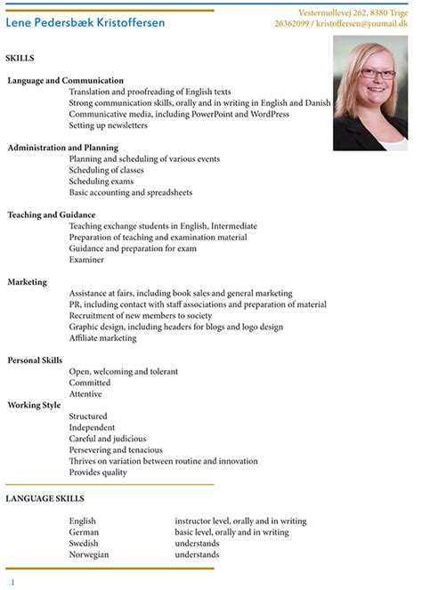 Cv Vs Resume Example by Cv English Version On Behance