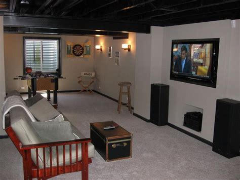 Unfinished Basement Ideas On A Budget Inspiring Basement Decorating Ideas On A Budget With Unfinished Basement Ideas On A Budget