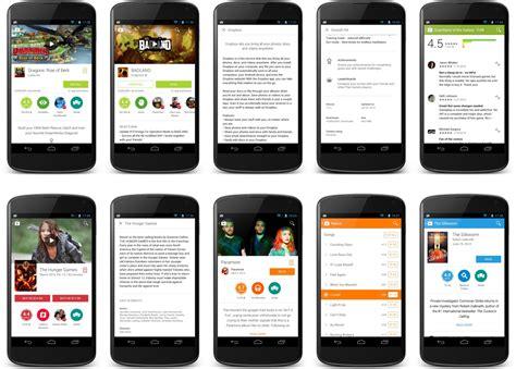 google design for android google le play store 4 9 13 introduit des 233 l 233 ments de