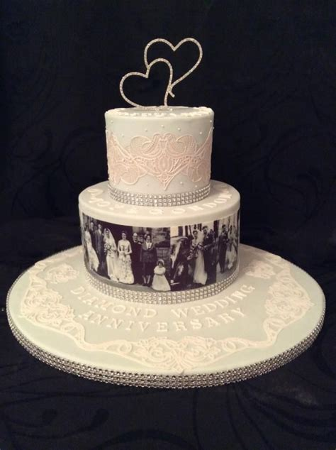 Diamond wedding anniversary cake for my parents   cakes in