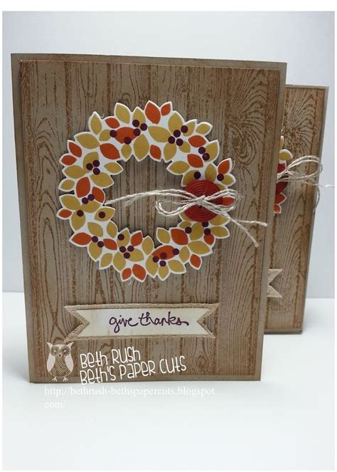 Thanksgiving Handmade Cards - 171 best stin up fall images on autumn