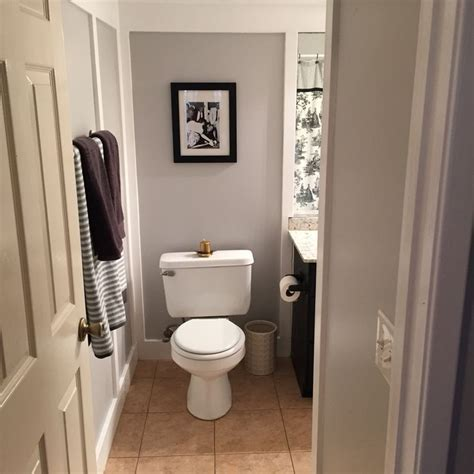 behr paint color white metal gray white black bathroom entry mixed metal touches