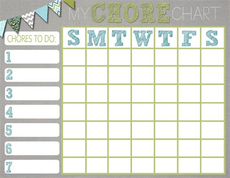 Chore Sheet Template by How To Create A Chore Chart That Works Yourmomhatesthis
