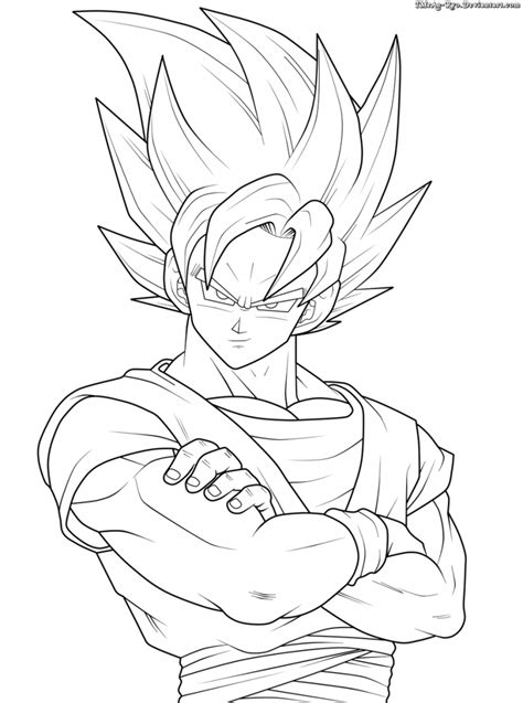 colorir goku de dragon ball  muito facil colorir  pintar