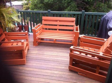 Patio Furniture Wood Pallets Outdoor Furniture From Pallet Wood 101 Pallets